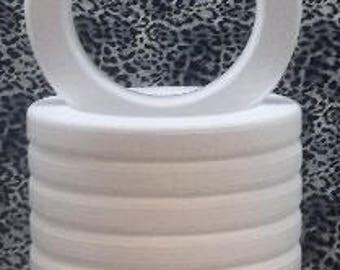 """8 PC Styrofoam EPS Polystyrene WREATHS with Rounded Edges 16"""" X 2"""""""