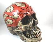 Skull Decor, Life Size Faux Taxidermy Skull Bookshelf, Tabletop, Centerpiece, Mantle Decor