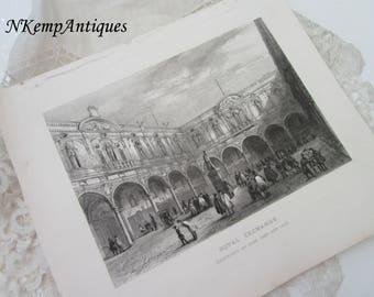 Antique print Royal exchange