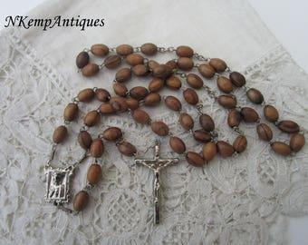 Jerusalem wooden rosary
