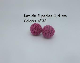 2 beads (1.4 cm) color No. 32 Mercerized cotton crochet