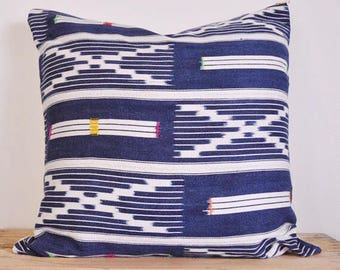 Authentic African Baoule decorative pillow