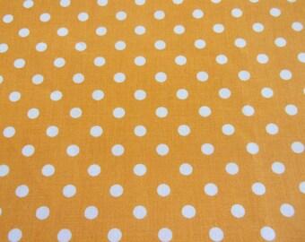 Orange and white 50 * 70 cm polka dot fabric coupon