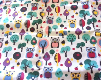 Coupon fabric girl 50 x 70 cm little owls
