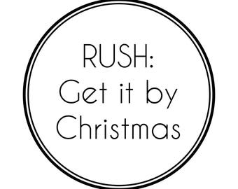 RUSH: Get it by Christmas!