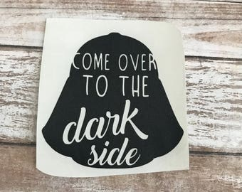 Darth Vader Star Wars Vinyl Decal Car Laptop Wine Glass Sticker