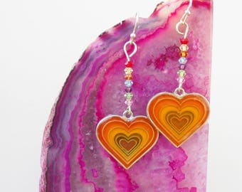 Mood Heart Earrings ONE OF A KIND