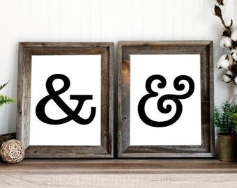 Ampersand print | And sign art printable | Gallery wall art | instant download