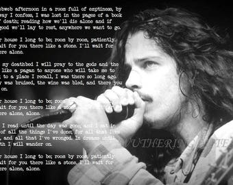 Chris Cornell 'Like A Stone' lyrics art
