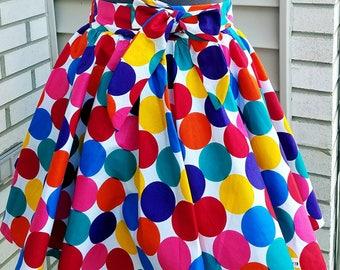 Kids Ankara Skirt, Girls Ankara Skirt, African Print Skirt, Ankara Skirt, Polka Dot Skirt