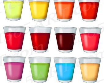 50% OFF Drink Clipart, Drink Clip art, Juice Clipart, Fruit Juice Clipart, Scrapbook Supplies, Digital Drink, Juice Download, Hand Drawn, PN