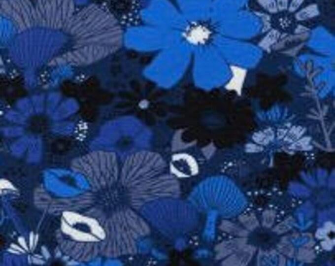 Bouquet in Moody Blue -Dress Shop by Cotton + Steel- Cotton Spandex Knit