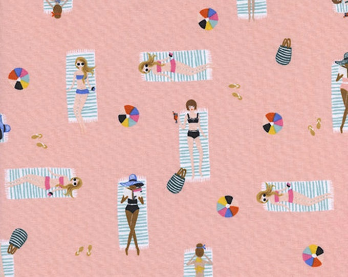 PRESALE: Sun Girls - Coral by Rifle Paper Co. for Cotton + Steel