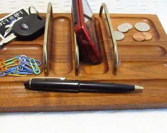 Men's Dresser Top Wood Valet - Vintage - Gift Giving Condition