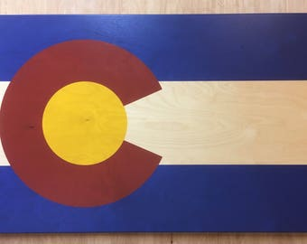 Colorado Flag Wall Hanging (Small) Classic Distressed Finish