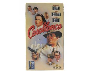 Vintage Casablanca VHS Tape Casablanca Video Tape Humphrey Bogart Ingrid Bergman