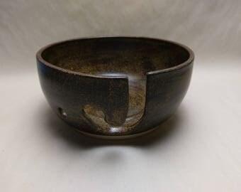 YARN BOWL - Temmoku J Cut - Hand Made Ceramic #815