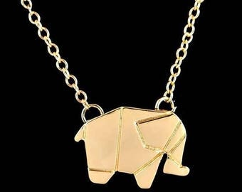 Good Luck necklace with gold plated elephant as a gift