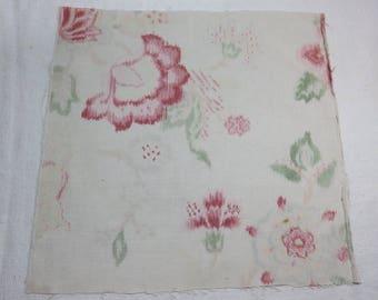 19th century cotton fabric.