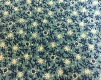 Huge Stack of 150 Vintage Blue Floral Cotton 3 inch Quilt Squares