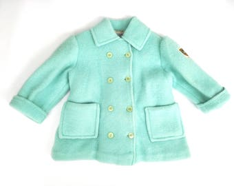 Vintage wool coat made in italy (1- 2 years), 1960s