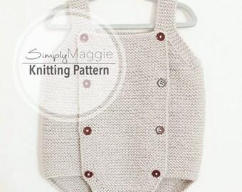 Baby Romper PDF Pattern // Advance Beginner Pattern // Knit Romper // simply maggie