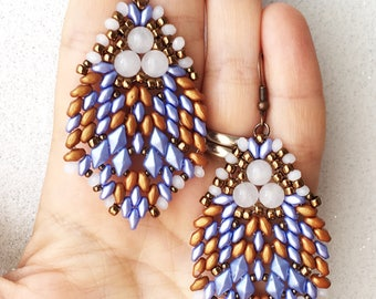 pdf pattern Blue Rain earrings