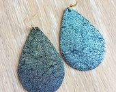 Blue Galaxy GENUINE LEATHER Earrings