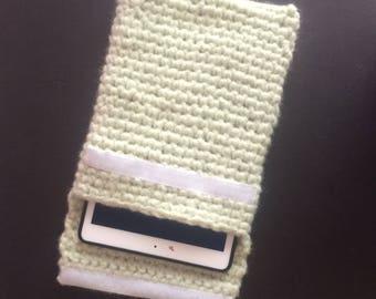 Hand crocheted iPad cover