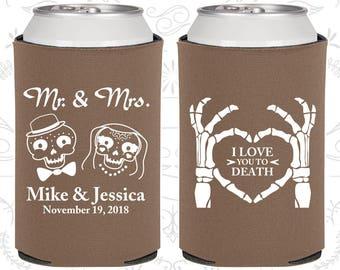 I Love you to Death, Sugar Skull Wedding Favors, Day of the Dead Wedding Favors, Candy Skull Wedding, Dia De Los Muertos Wedding (206)