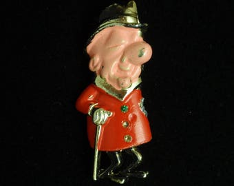 Mr Magoo Figural Scatter Pin Vintage Retro