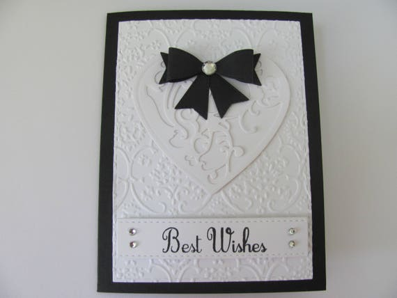 Wedding Cards Embossed Wedding Card Best Wishes Card