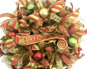 Christmas Mesh Wreaths, C...