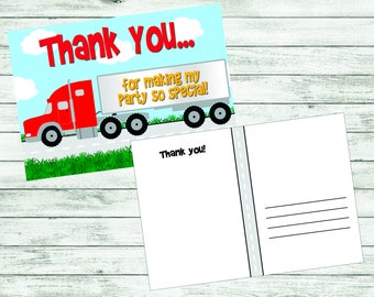 Semi Truck Thank You Postcard
