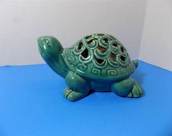 NEW Rare Ceramic Figurine Turtle GC Naturals Potpourri Sachet Holder Scent Gift Home Decor
