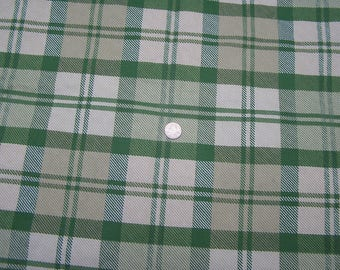 5th Ave Designs Covington Upholstery Fabric RARE 57 x 2 yd Green White Checked Checks  Sewing Craft