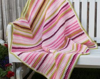 Crochet, V-stitch, Peonies Galore baby/toddler/adult lap crochet blanket