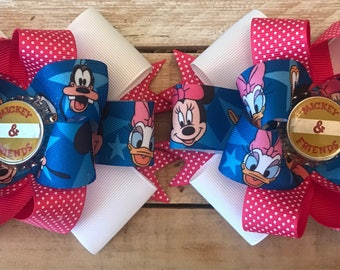 Mickey and Friends piggy bows