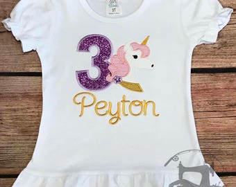 UNICORN Birthday SHIRT, unicorns, unicorn birthday