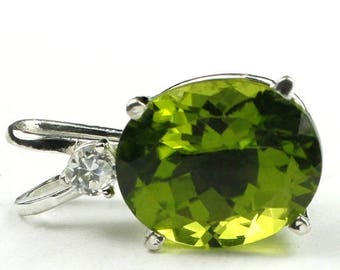 On Sale, 20% Off, Peridot, 925 Sterling Silver Pendant, SP022