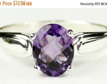 On Sale, 20% Off, Amethyst, 925 Sterling Silver Ring, SR058