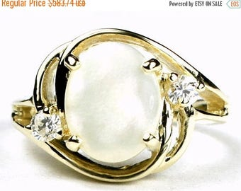 On Sale, 30% Off, Mother of Pearl, 14KY Gold Ring, R021