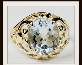 On Sale, 30% Off, Aquamarine, 18Ky Gold Ring, R004