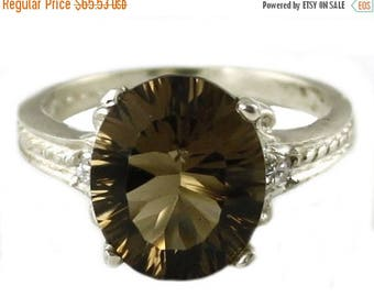 On Sale, 30% Off, Smoky Quartz, 925 Sterling Silver Ring, SR136