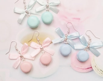 earrings pastel macarons polymer clay