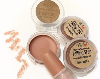 Organic FALLING STAR Natural MATTE Lipstick - Mineral Lip Butter - Gluten Free Vegan Lipstick
