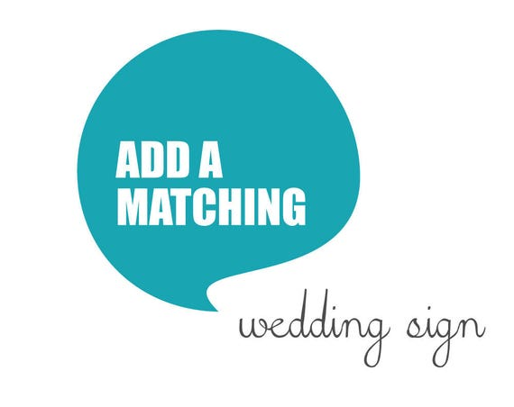 Matching WEDDING SIGN made to match any wedding design from blueBUBBLEstudio - Digital File