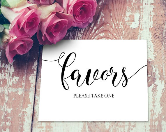 Favors Sign INSTANT DOWNLOAD