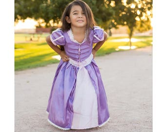 Super Cute Rapunzel Princess Dress in a Comfortable Short Sleeve | Toddler | Youth