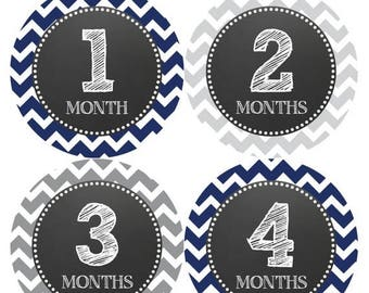 Monthly Baby Milestone Stickers Baby Boy Baby Shower Gift One-Piece Baby Stickers Monthly Baby Stickers Baby Month Sticker 1032